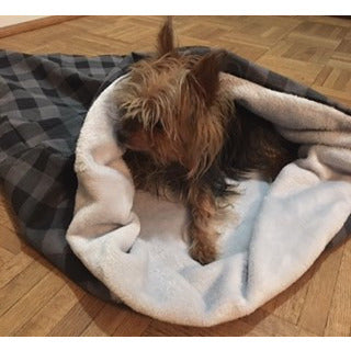 Flannel/Plush Pet Snuggle Cup | Here, Cricket! A Pet Boutique for Pretentious Pets