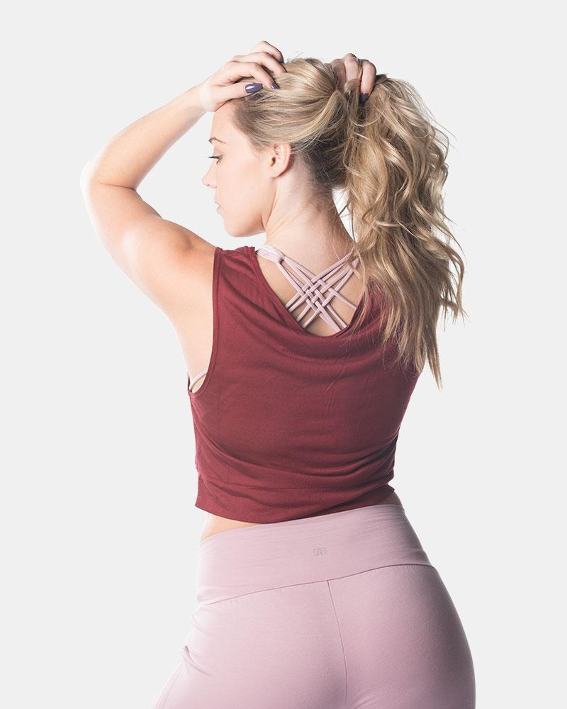 Twist and Flow Tank - Oxblood
