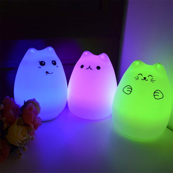 Squishy Cat Night Light : Cute Cat LED Night Light!!!! - FREE SHIPPING ? LolStyles