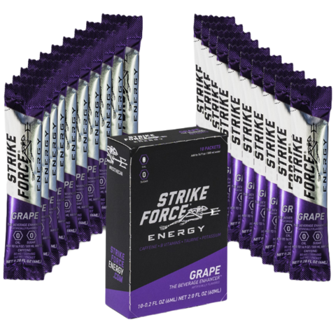 Strike Force Energy, 10 Count Box - Grape Flavor