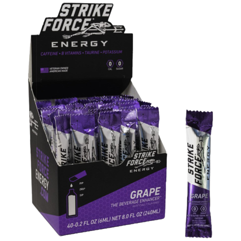 Strike Force Energy, 40 Count Box - Grape Flavor