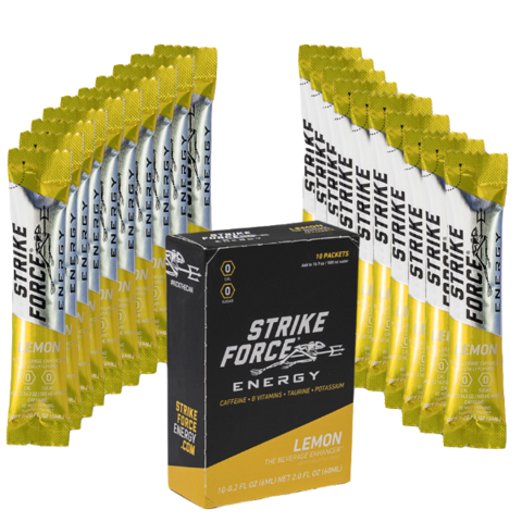 Strike Force Energy, 10 Count Box - Lemon Flavor