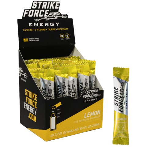 Strike Force Energy, 40 Count Box - Lemon Flavor