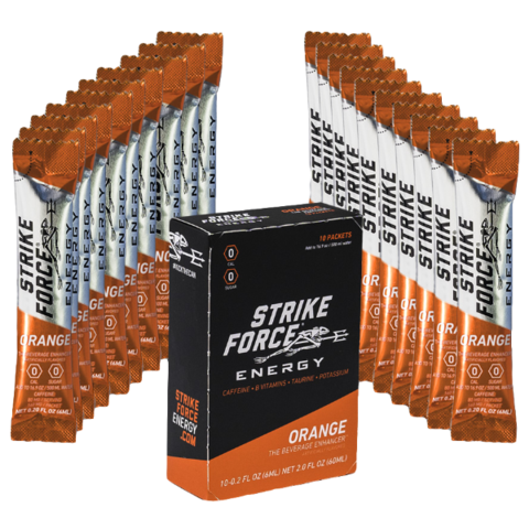 Strike Force Energy, 10 Count Box - Orange Flavor