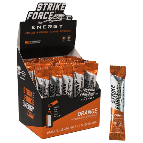 Strike Force Energy, 40 Count Box - Orange Flavor