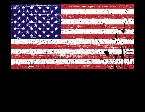 "Youth ""Black"" USA flag Two Vets"