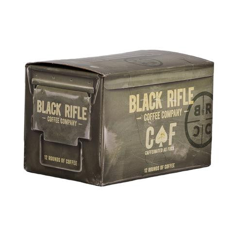 Black Rifle CAF Coffee Rounds sold at Two Vet's Clothing Co.