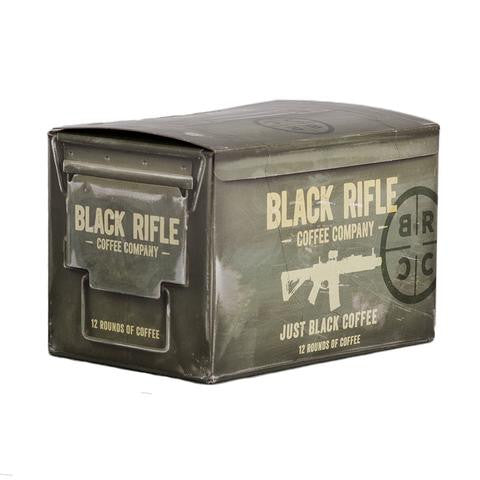 Black Rifle Just Black Coffee sold at Two Vet's Clothing Co.
