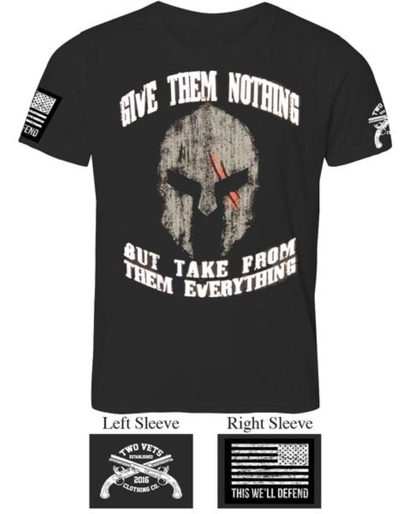Give Them Nothing Men's T-Shirt - Black
