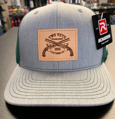Two Vets Leather Patch Hat - Heather Grey/Dark Green