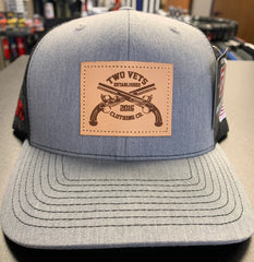 Two Vets Leather Patch Hat - Heather Gray/Black