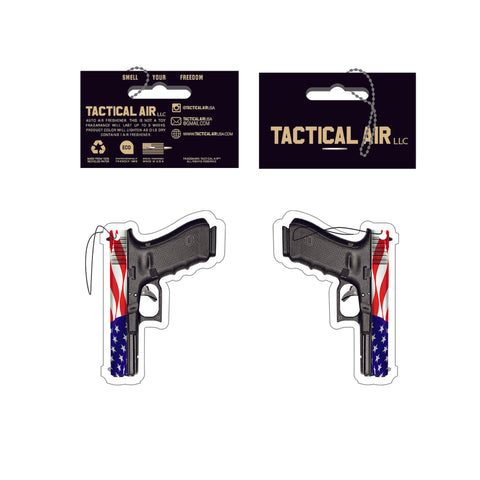 GLOCK RED WHITE AND BLUE AMERICAN FLAG PISTOL AIR FRESHENER