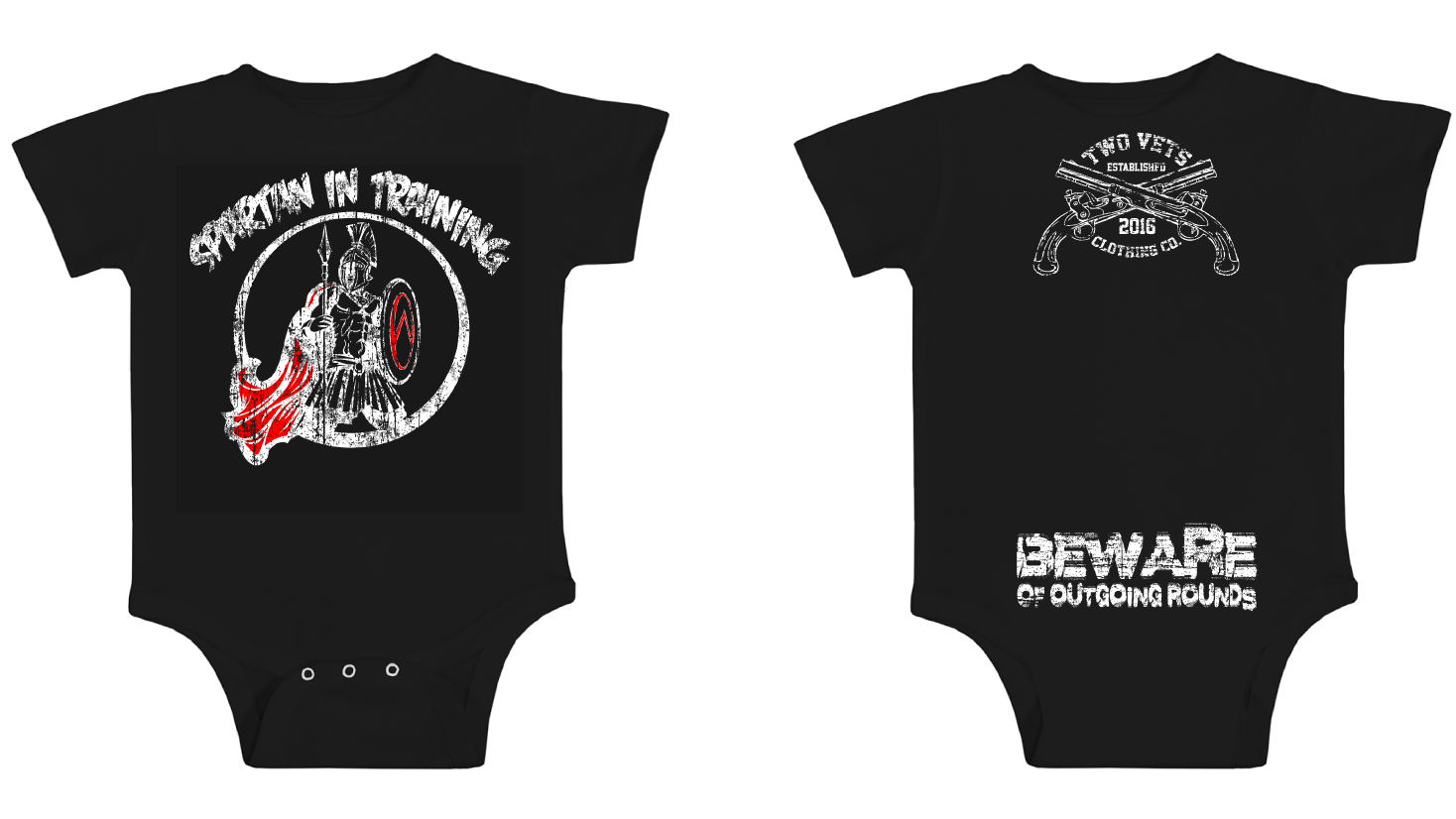 Spartan in Training Onesie  - Black