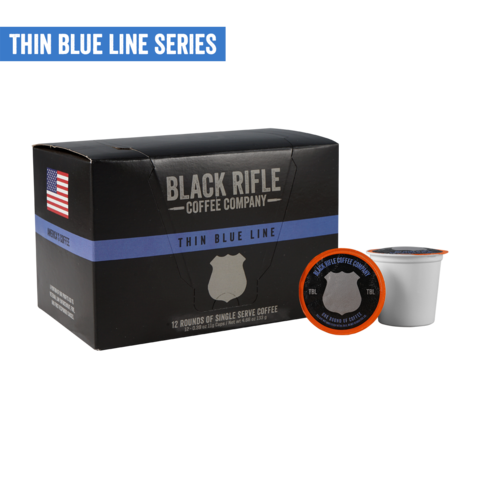 THIN BLUE LINE COFFEE ROUNDS
