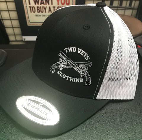 Two Vets Snapback Hat - Black