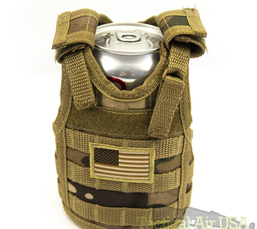 Tactical Koozie - Tan Flag