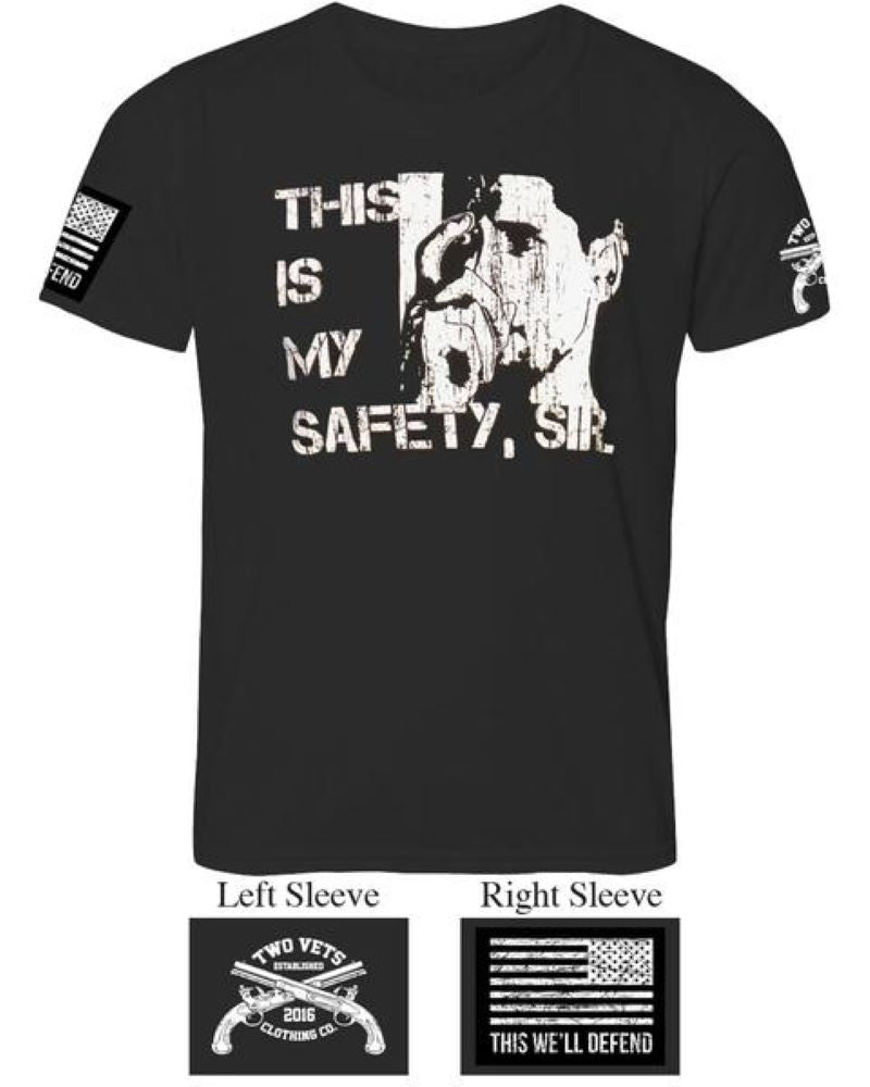 This is my safety Sir Men's T-Shirt - Black