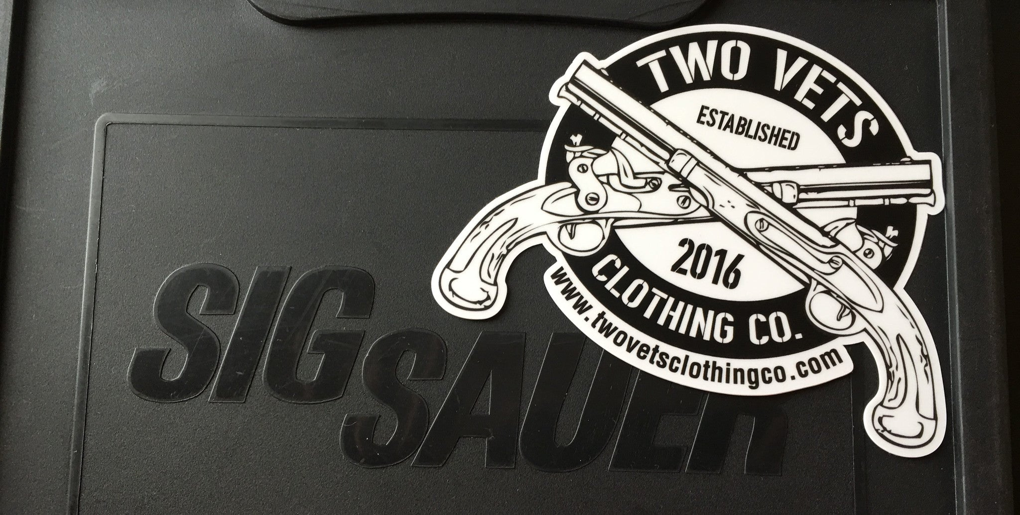 Two Vets Clothing Co. Bumper Stickers