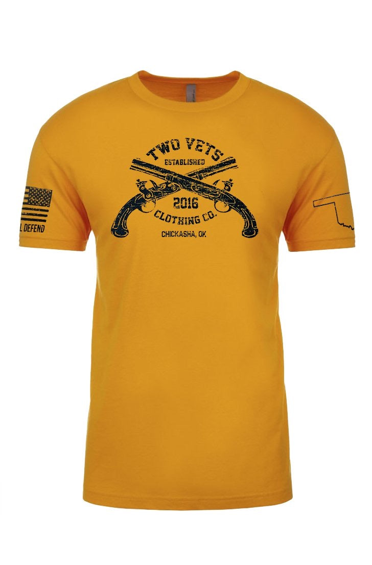 YOUTH Two Vets Clothing Co logo - gold