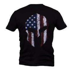 Men's Spartan T-Shirt, black, Two Vets Clothing Co