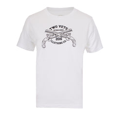Two Vets Clothing Logo Youth T-shirt - white