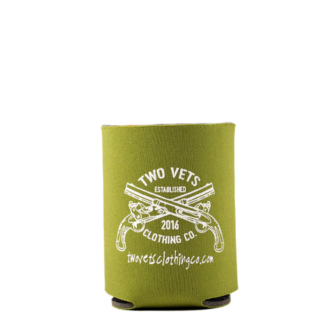 Two Vets Clothing Koozie - Green