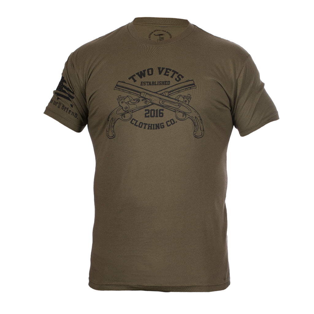 Two Vets Clothing Logo Men's T-Shirt - OD Green