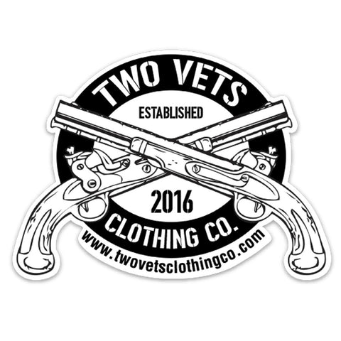 Two Vets Clothing Co Sticker