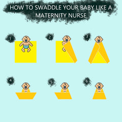 How to swaddle a newborn baby, swaure sqaddle technique, hip safe