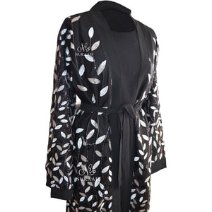 EMBROIDERED SEQUIN KIMONO black - jilbabs online