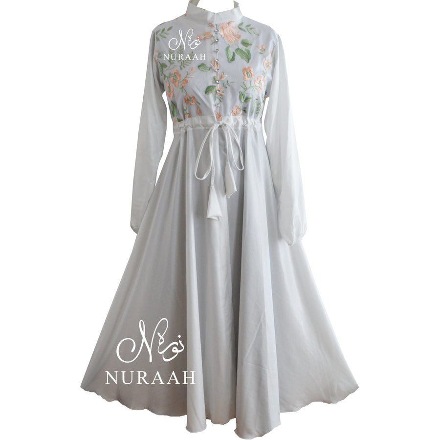 EMBROIDERED LACE KIMONO WHITE - jilbabs online