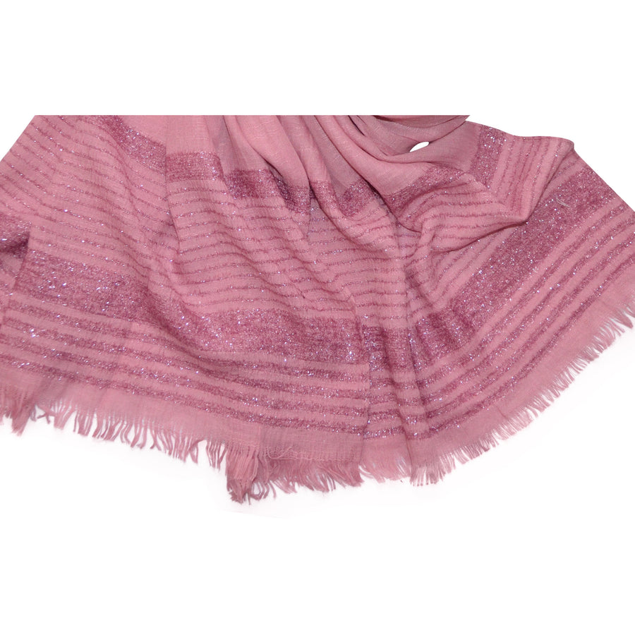 ANNIE SHIMMER BORDER HIJAB PINK