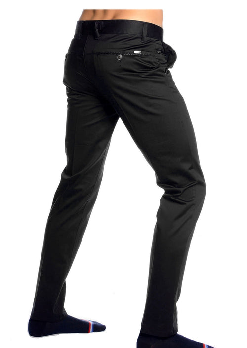 Black Stretchy Side Pocket Pants