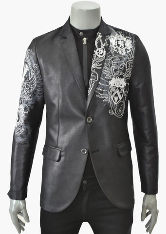 "BLACK CREST""LIMITED EDT"" EMBROIDERY BLAZER"
