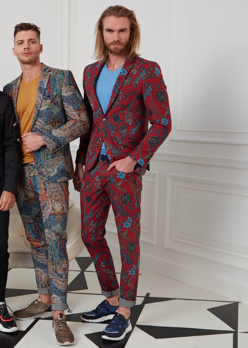 Red Chain Barocco 2-Pieces Suit