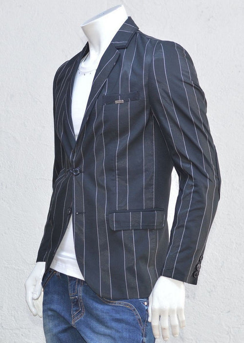 SUNSET STRIPED BLACK BLAZER