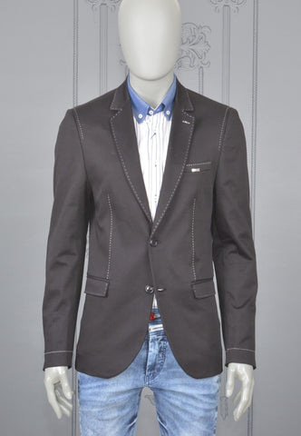 BLACK LAPEL SLIM FIT BLAZER
