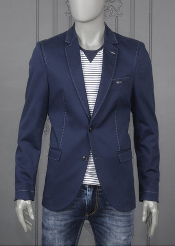 NAVY LAPEL SLIM FIT BLAZER