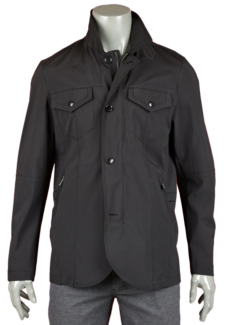 Black Lightweight Field Jacket