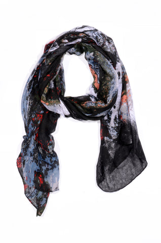 "MULTI-COLOR ""LORENZO"" PRINT SCARF"