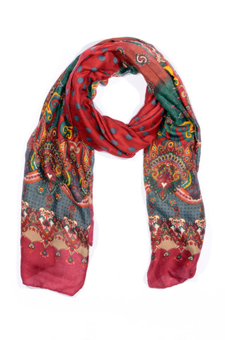 "MULTI-COLOR ""VENEZIA"" PRINT SCARF"