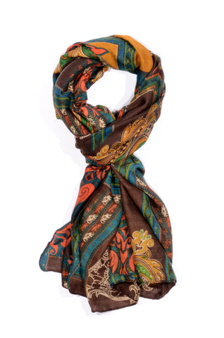 "MULTI-COLOR ""GUILIA"" PRINT SCARF"