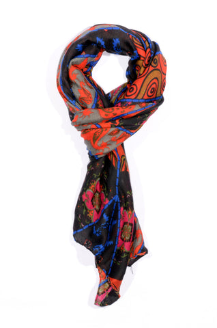 "MULTI-COLOR ""DI PORTA"" PRINT SCARF"