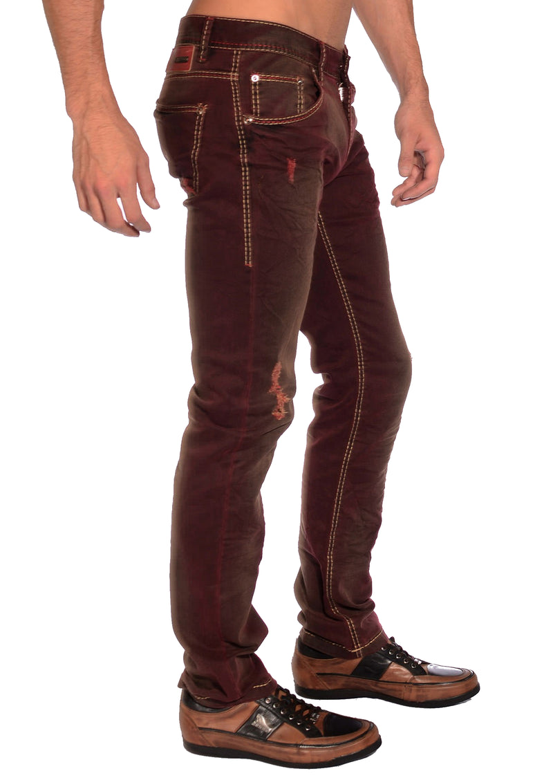 Burgundy Denim