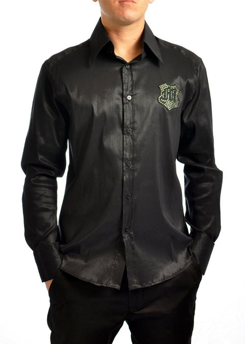 Black Strength Rhinestone Shirt