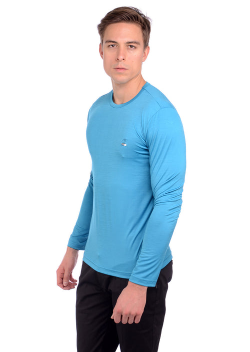 Blue Soft Techno Long Sleeve Tee