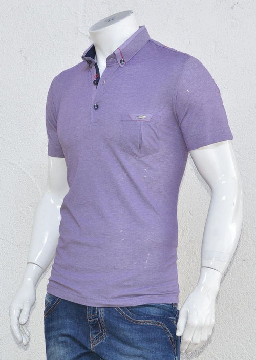 Purple Casual Polo