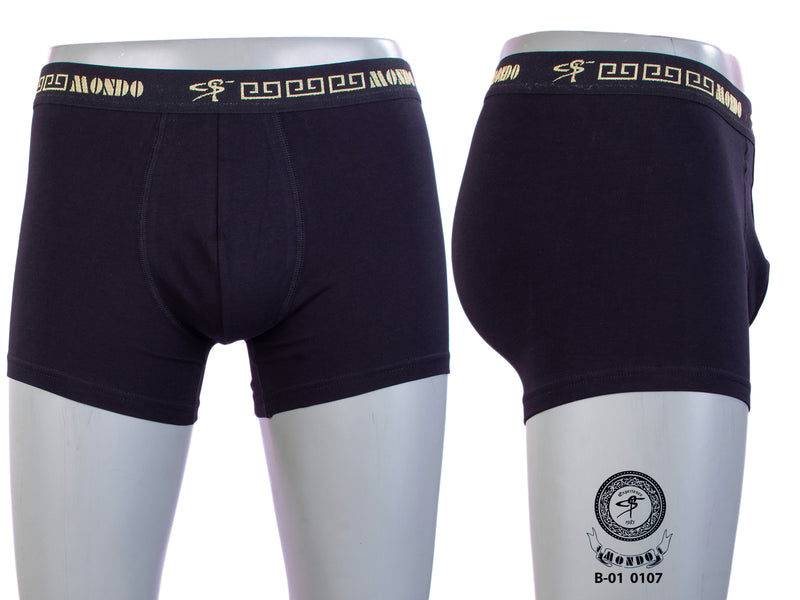 Black Gold Cotton Superior Stretch Boxer Briefs