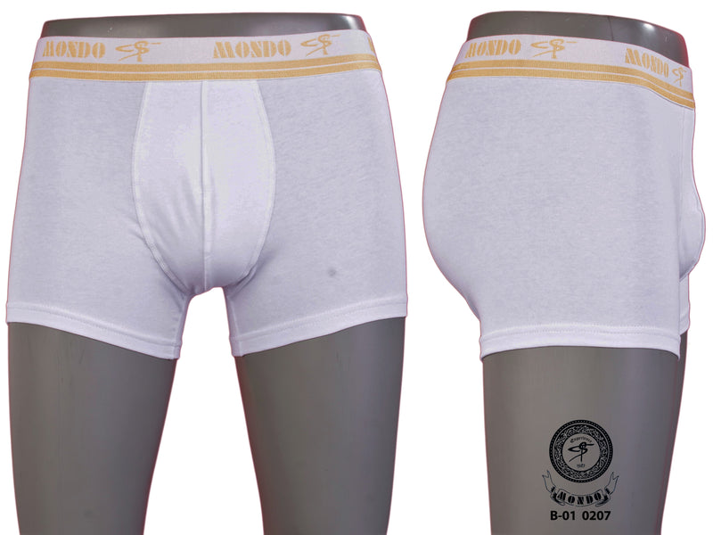 White Gold Cotton Superior Stretch Boxer Briefs