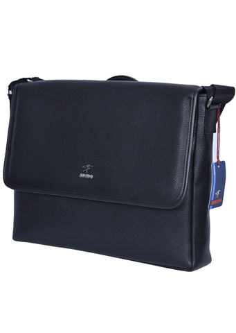 "BLACK ""LONDON"" MESSENGER BAG"